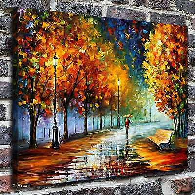 Autumn Marathon Paintings HD Print on Canvas Home Decor Wall Art Pictures