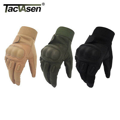 Tactical Gloves Full Finger Army Antiskid armor protection shell Leather Working