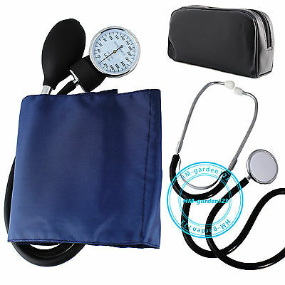 Adult Blood Pressure Monitor Kit Manual Sphygmomanometer with Stethoscope Cuff B