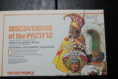 1974 National Geographic Islands of the Pacific map