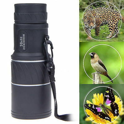 30X Magnification 52mm Objective Lens Compact Monocular Spotting Scope Telescope