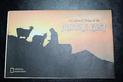 1972 National Geographic A Cultural Map of the Middle East