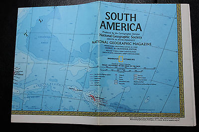 1972 National Geographic map South America