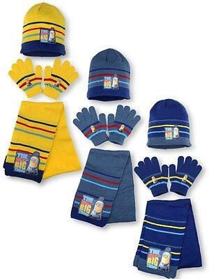 Minions Hat Scarf & Gloves
