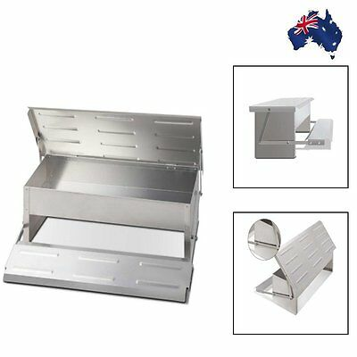 Aluminum Chicken Bird Feeder Automatic Poultry Treadle Self Opening Coop 4.7KG