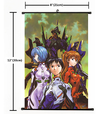 Anime Neon Genesis Evangelion Wall Poster Scroll 2253