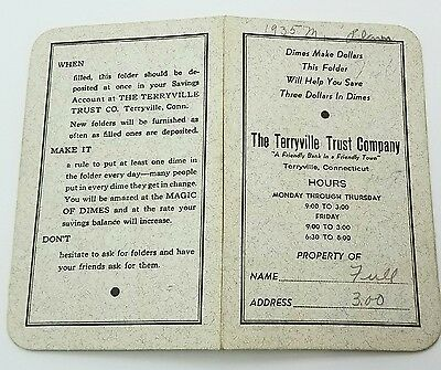 Old Dime Saver Bank Book Full Of 90% Silver Dimes Terryville Trust Company Ct