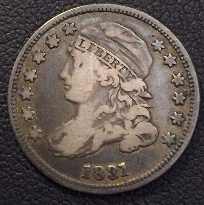 1831 Capped Bust Dime In About Fine Plus Condition #6024