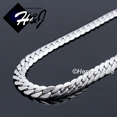 "16-40""MEN Stainless Steel 6mm Silver Miami Cuban Curb Link Chain Necklace*N155"