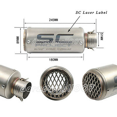 Universal Motorcycle Exhaust Muffler Vent Pipe for Scooter Street Dirt Bike