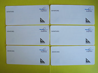 6 X QANTAS INTL DEPARTURE EXPRESS CARDS USE FOR ANY AIRLINE inc VIRGIN EMIRATES