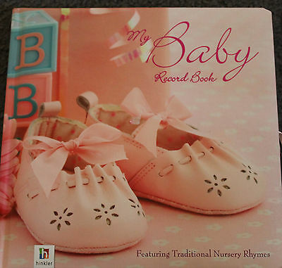 New & Unused GIRLS MY BABY RECORD BOOK featuring traditional nursery rhymes