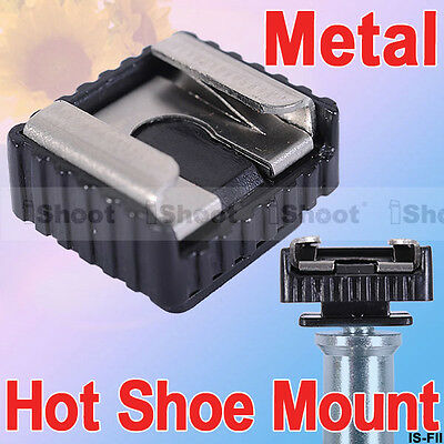 """iShoot Metal Flash Hot Shoe Mount Adapter IS-FII with 1/4"""" Thread for Canon"""