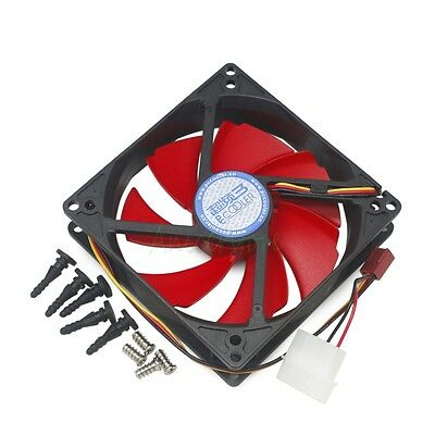 100mm x 25mm 12V Cooling Fan for PC Case CPU Heatsink Cooler Dual Mounting Holes