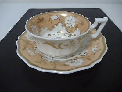 ANTIQUE RIDGWAY TEA CUP AND SAUCER Ca. 1825-30