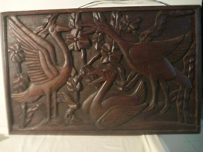 Antique European Teak carved Wall Panel
