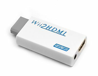 Wii a HDMI 720 / 1080P Adaptador convertidor HD Upscaling 3.5mm de audio de TV