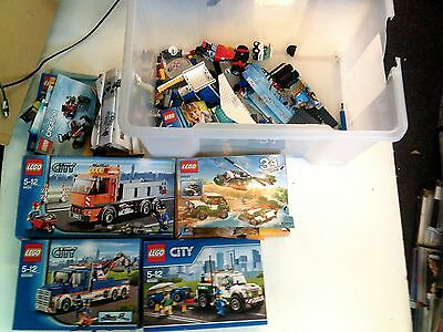 Job Lot Bundle Of 4x Lego Sets & Loose Lego, In Good Condition
