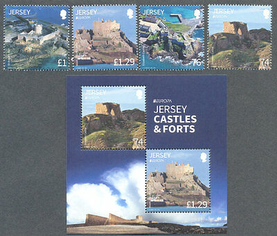 Jersey-Castles & Forts 2017 set mnh and   min sheet