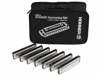 Hohner Blues band Set 7 Armoniche con borsa