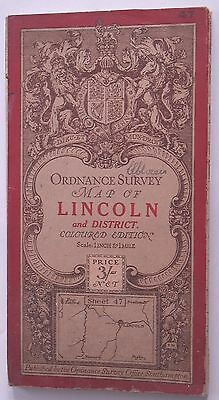 LINCOLN & DISTRICT CLOTH map Ordnance Survey Map 1912 Sheet 47
