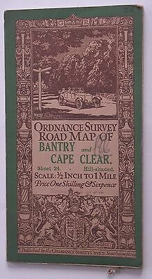 BANTRY & CAPE CLEAR  1/2 inch to 1 mile map Ordnance Survey Map 1913 Sheet 24