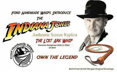 Indiana Jones Exact Duplicate Bullwhip From Raiders Of The Lost Ark