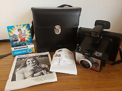 Vintage Polaroid Land Camera with Original Case Cord Manuals