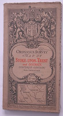 STOKE UPON TRENT CLOTH map Ordnance Survey Map 1914 Sheet 53 One inch to 1 Mile