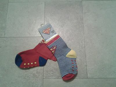 BNWT baby boys red/blue, 2 pack superbaby socks. Size 1-3/6-12 months, Big W.