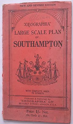 SOUTHAMPTON map Ordnance Survey Map Large Scale Plan - One inch to five mile