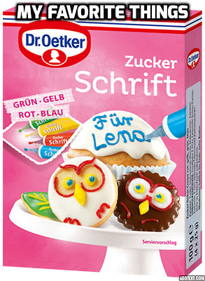 Dr Oetker Writing Icing 4 COLOR Green, Yellow, Red & Blue 4 x 25g Decorate Cake
