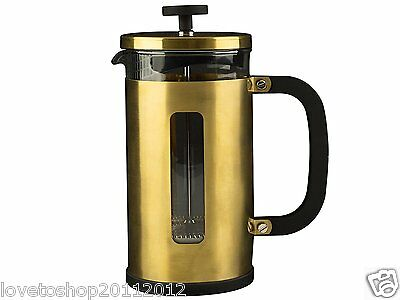 La Cafetiere Edited Brushed Gold 8 Cup Pisa Cafetiere Coffee Press Coffee Maker
