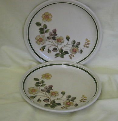 """2 Marks & Spencer Autumn Leaves Oven to Tableware 6.5"""" Plates - more available"""