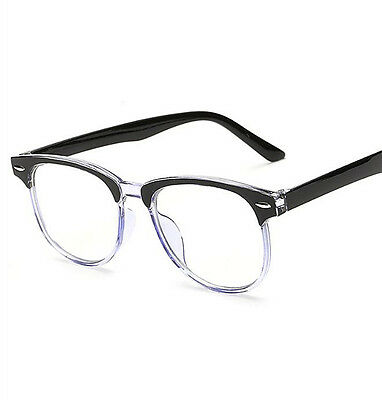 FASHION Round Rivets Clear Lens EYEWEAR COMPUTER OPTICAL GLASSES FRAME SPECTACLE