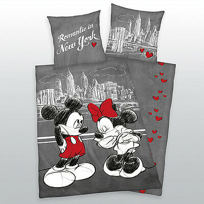 Bed linen Mickey + Minnie Mouse Mouse New York Liebe Herding COOL 135 x 200 cm