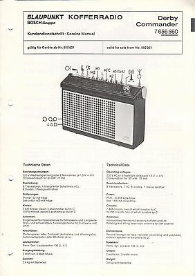 BLAUPUNKT - Derby Commander 7656560 - Kundendienstschrift Manual - B2941