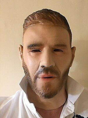 Gary Barlow Full Head Mask Latex Fancy Dress Costume Famous People Rubber Masks