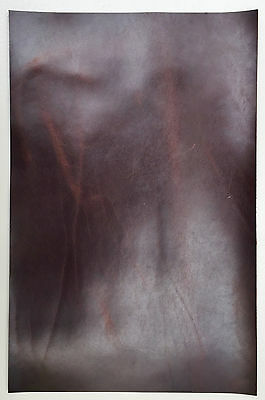 DARK CONKER PULL-UP LEATHER PIECES OF COWHIDE, 1 @ 340mm x 220mm 1.8 MM THICK