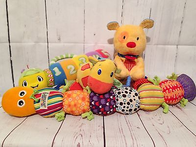 Baby Rattles Lamaze Child Of Mine Leap Frog Crinkles Squeaks Rattles Lot Of 4