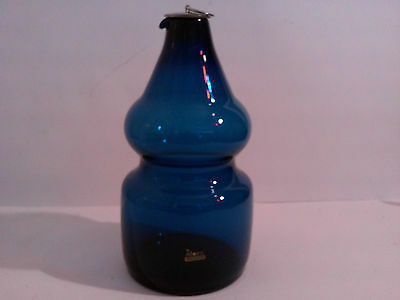 ALFORS SWEDEN BLUE SERIES by BERTIL VALLIEN GLASS DECANTER KOSTA BODA INTEREST