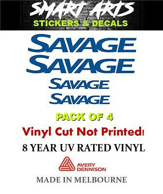 Savage Stickers Decals Quality Marine Vinyl Boat Fishing Halfcab Runabout