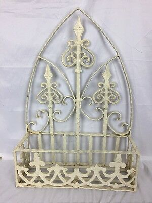 Antique Looking Metal Wrought Iron Flower Pot  Holder Stand
