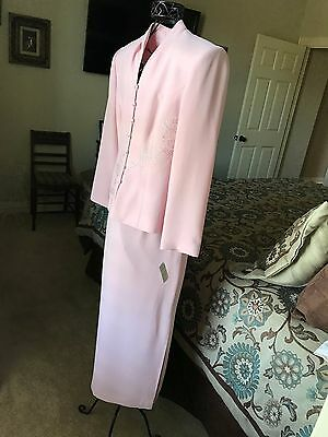 Beautiful Talbot's 2pc Suit Pink w/ embellishments Sz 6 Mother of the Bride NWT