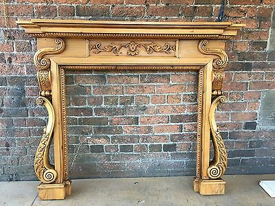 Beautiful solid Antique Pine Fire Surround ( Del £25 Max )