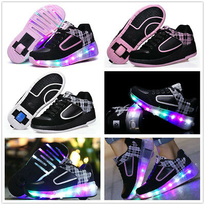 Girls Boys Kids Retractable Roller Skate Shoes with wheels Children Sneakers