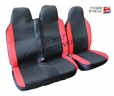 HEAVY Duty RED Trim VAN Seat COVERS LDV V80 Single Double 16 on