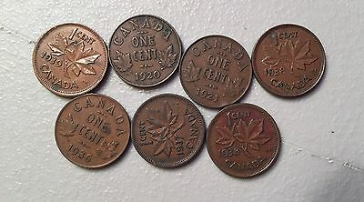Lot Bag Of 1230 Canada Penny Cent Pennies 1920s Thru 1970s MP91