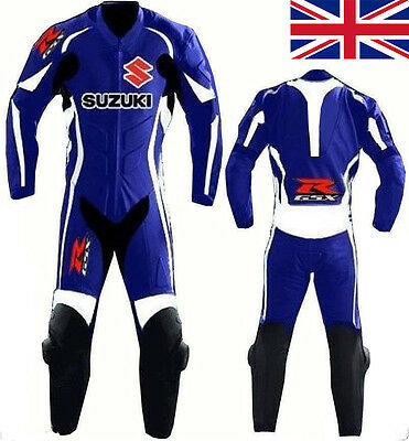 one piece suzuki Motorcycle Leather Suit MOTOGP Motorbike Leathers new