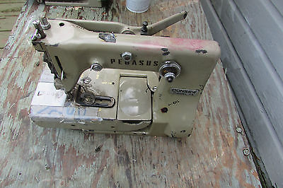 Lot of 2 PEGASUS Consew model 114 Chainstitch Industrial Sewing Machines